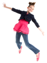 girl leap